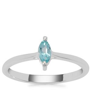 Madagascan Blue Apatite Ring  in Sterling Silver 0.26ct