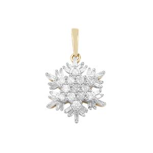 1/2ct Diamond 10K Gold Pendant
