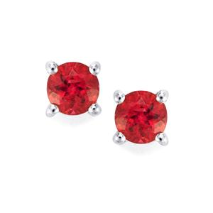 Cruzeiro Rubellite Earrings in Sterling Silver 0.5ct
