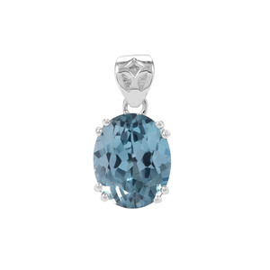 Versailles Topaz Pendant in Sterling Silver 4.58cts