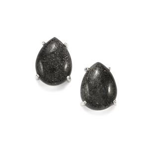 Midnight Astraeolite Earrings  in Sterling Silver 14cts