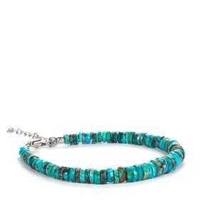 46.20ct Sleeping Beauty Turquoise Sterling Silver Bracelet