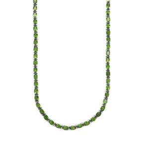Chrome Diopside Necklace in Sterling Silver 20.32cts