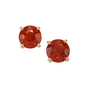 Mandarin Garnet Earrings in 10K Gold 2.61cts