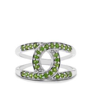 0.51ct Chrome Diopside Sterling Silver Ring