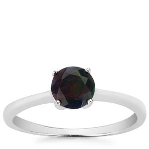 Ethiopian Midnight Opal Ring in Sterling Silver 0.55cts