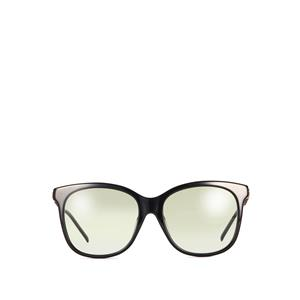 Gucci Black Square Frame Sunglasses With Antique Gold Detail