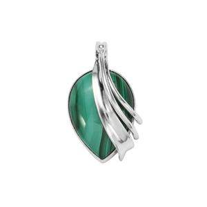 Malachite Pendant in Sterling Silver 27cts