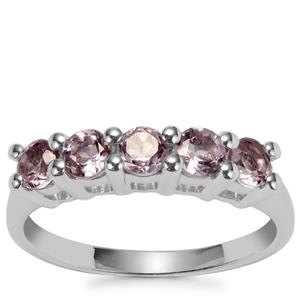 Rose De France Amethyst Ring in Sterling Silver 0.74ct