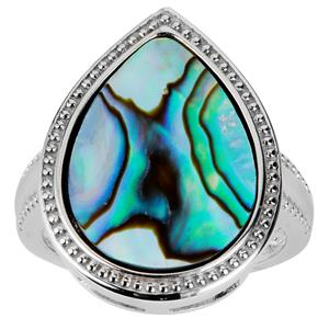 Paua Sterling Silver Ring (17.5x13m)