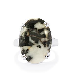 21.70ct Zebra Jasper Sterling Silver Ring
