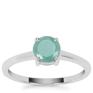 Carnaiba Brazilian Emerald Ring in Sterling Silver 0.80ct