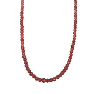 Rjasthan Garnet Graduated Bead Necklace in Sterling Silver 46.50cts