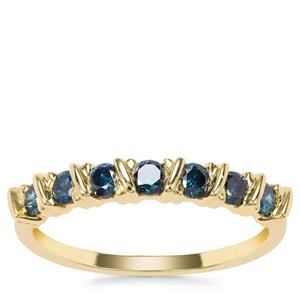 Blue Diamond Ring in 9K Gold 0.51ct