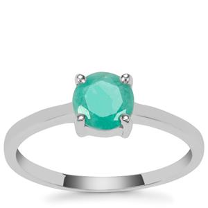 Carnaiba Brazilian Emerald Ring in Sterling Silver 0.84cts