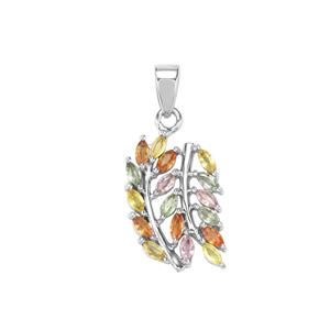 Rainbow Sapphire Pendant in Sterling Silver 1.18cts