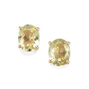 3.76ct Sillimanite 10K Gold Earrings