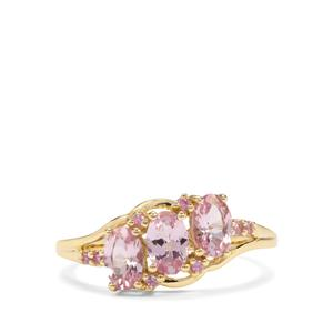 Andhra Pradesh Spinel & Pink Sapphire 9K Gold Ring ATGW 1.30cts