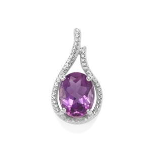 Kenyan Amethyst Pendant in Sterling Silver 2.30cts