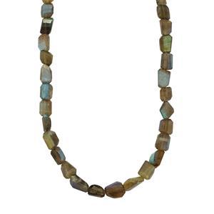 173ct Labradorite Sterling Silver Nugget Necklace