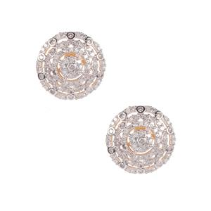 Diamond Earrings in 10K Gold 1ct
