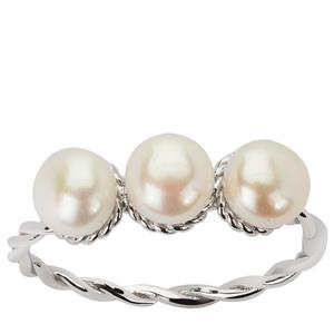 Kaori Cultured Pearl Sterling Silver Ring (5.50mm)