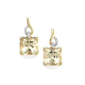 Serenite Earrings with Diamond in 9K Gold 5.54cts