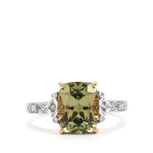 Csarite® & Diamond 18K Gold Ring MTGW 3.79cts