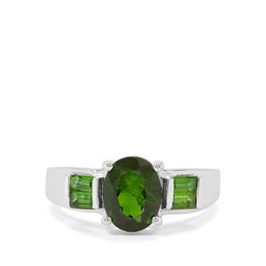 2.85cts Chrome Diopside Sterling Silver Ring