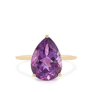 4.44ct Moroccan Amethyst 9K Gold Ring