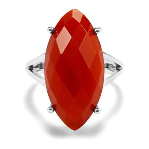 13ct Red Onyx Sterling Silver Aryonna Ring