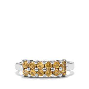0.87ct Morafeno Sphene Sterling Silver Ring