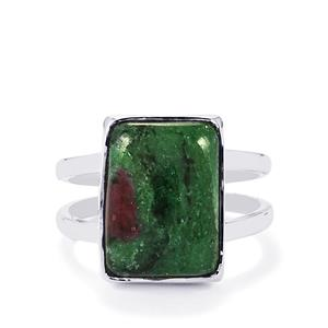 Ruby-Zoisite Ring in Sterling Silver 9.49cts
