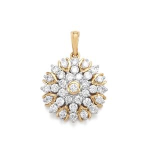 Canadian Diamond Pendant in 18K Gold 1ct