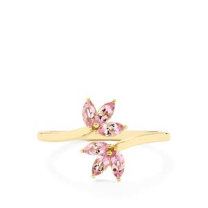 Imperial Pink Topaz Ring  in 9K Gold 0.55ct