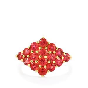Cruzeiro Rubellite Ring in 10k Gold 1.71cts