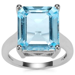 11ct Sky Blue Topaz Sterling Silver Iconic Ring
