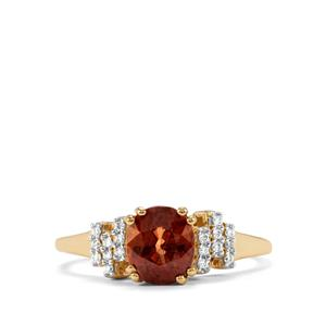 Tsivory Color Change Garnet Ring with Diamond in 14k Gold 1.83cts