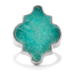 13ct Amazonite Sterling Silver Ring