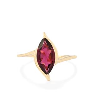 Rajasthan Garnet Ring in 10k Gold 1.92cts