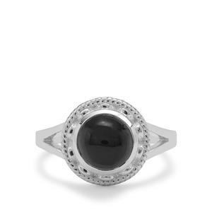 Cats Eye Enstatite Ring in Sterling Silver 3cts