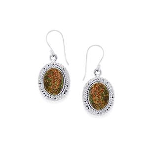 10ct Spectropyrite Drusy Sterling Silver Aryonna Earrings