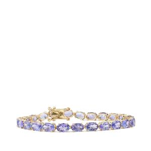 AA Tanzanite Bracelet in 10K Gold 13.84cts