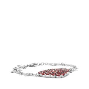 15.33ct Malagasy Ruby Sterling Silver Bracelet (F)