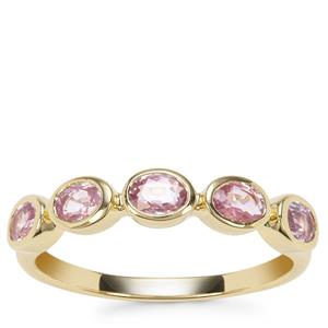 Sakaraha Pink Sapphire Ring in 9K Gold 1.20cts
