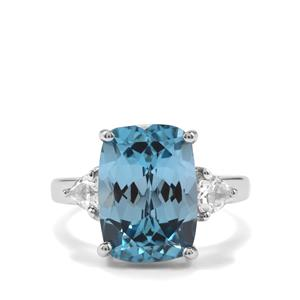 Versailles Topaz Ring with White Topaz in Sterling Silver 8.67cts