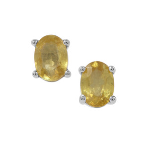 Ambilobe Sphene Earrings in Sterling Silver 1.75cts