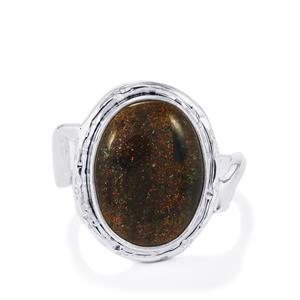 Andamooka Opal Ring  in Sterling Silver 8cts
