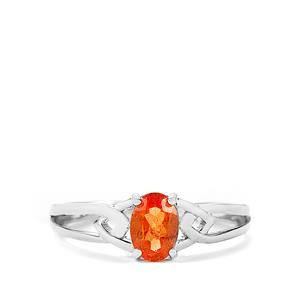 Serengeti Spessartite Garnet Ring in Sterling Silver 0.98ct