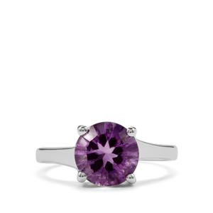 2.50ct Moroccan Amethyst Sterling Silver Amami Cut Ring